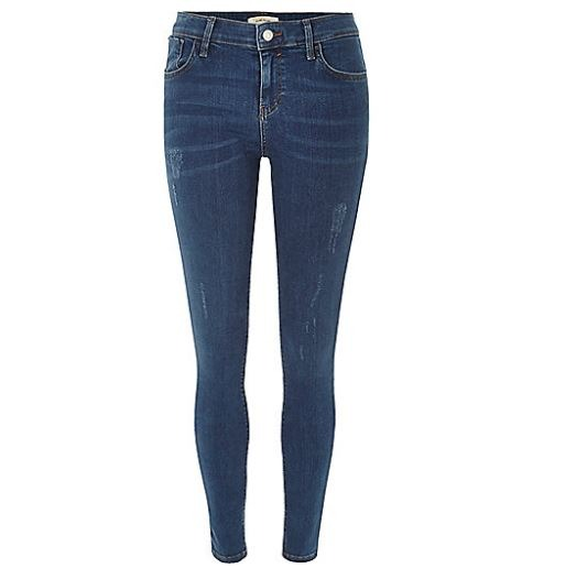 First up, a classic pair of mid blue wash Amelie super skinny jeans  from River Island. These jeans are extremely flattering for many different body shapes and the dark blue colour is the perfect shade to complement a variety of  Autumnal shades like cherry red, maroon and burgundy. If you've got super long legs these will extenuate your slender limbs and really flatter them. Similarly though, if you've more of an hour glass shape, these will show off your curves brilliantly.